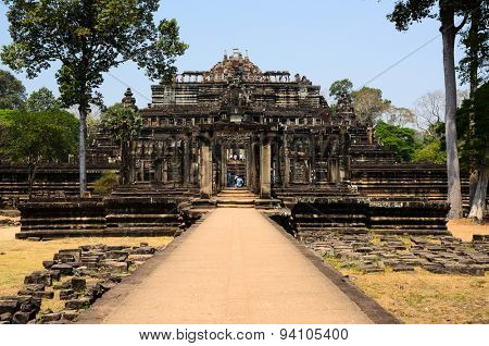 Baphuon, part of Khmer Angkor temple complex, popular among tourists ancient landmark and place of worship in Southeast Asia. Siem Reap, Cambodia.