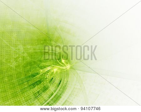 Abstract green and white background with twisted net pattern