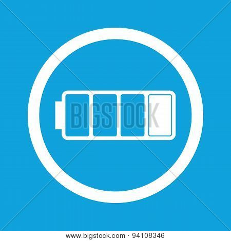 Low battery sign icon
