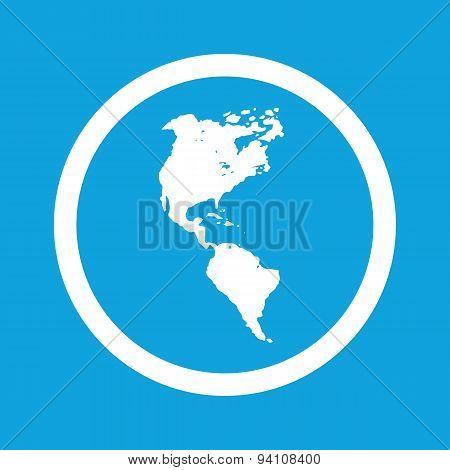 America sign icon