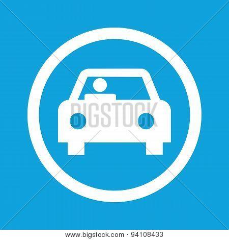 Car sign icon