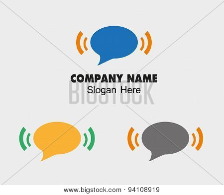 Sms and wifi logo icon vector