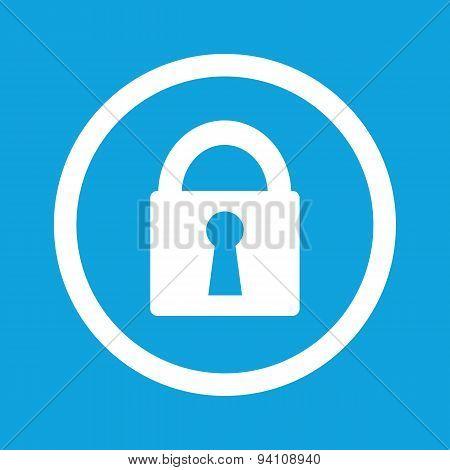 Locked sign icon