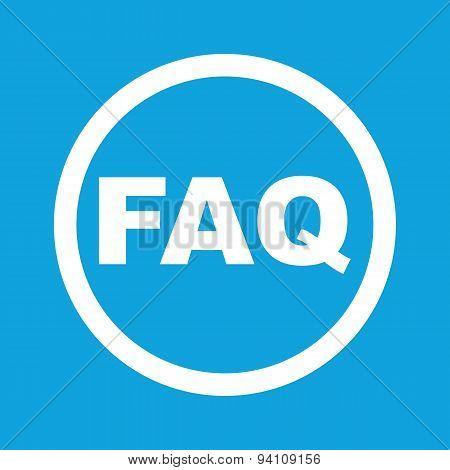 FAQ sign icon