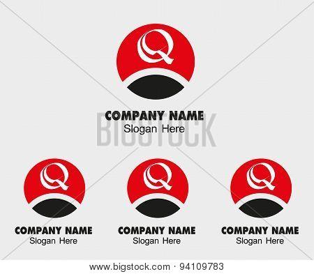 Q letter logo - Template letter Q