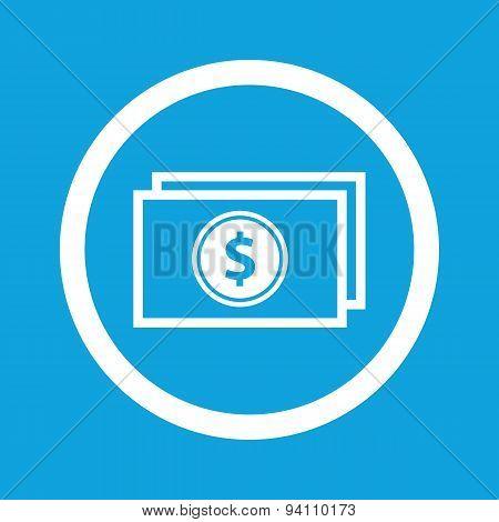 Dollar bill sign icon