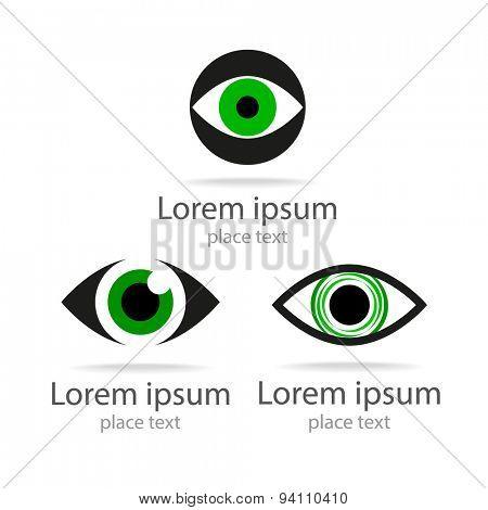 Symbol of eye.Template for design.