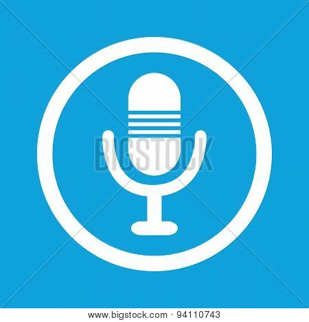 Microphone sign icon