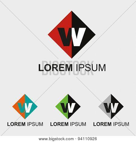 Letter W logo. Letter W alphabet logo vector letter W icon