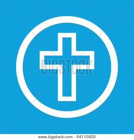 Christian cross sign icon