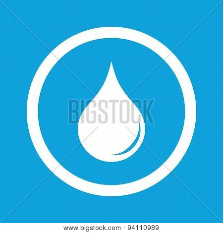 Water drop sign icon