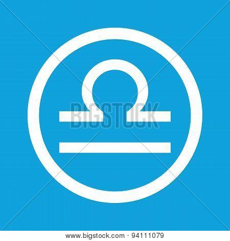 Libra sign icon