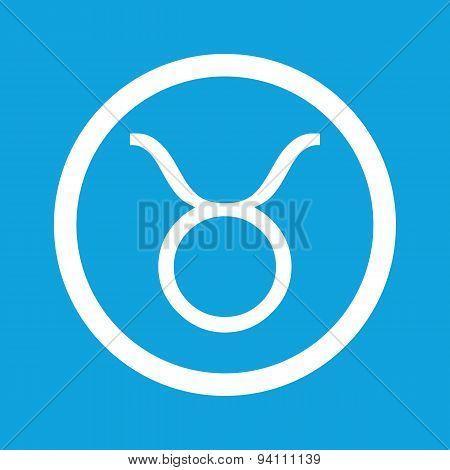Taurus sign icon
