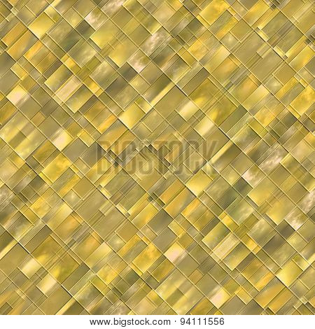 Seamless Diagonal Mosaic Background In Yellow Spectrum