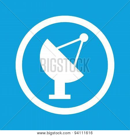 Satellite dish sign icon