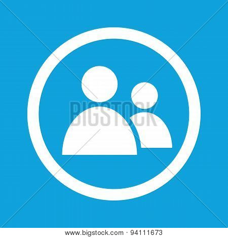 Contacts sign icon