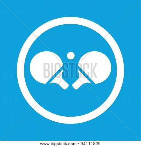 Table tennis sign icon