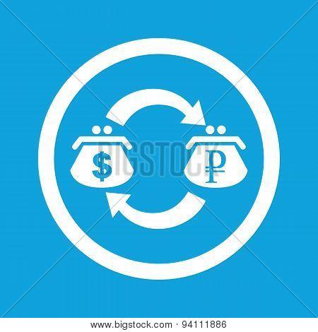 Dollar-ruble exchange sign icon