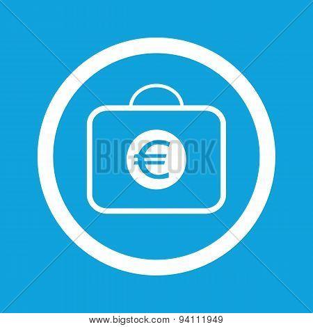 Euro bag sign icon