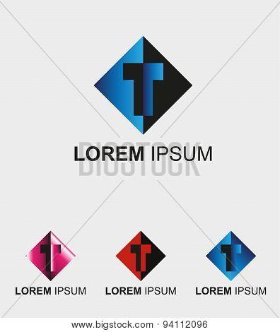 Letter T logo. Letter T alphabet logo - T icon