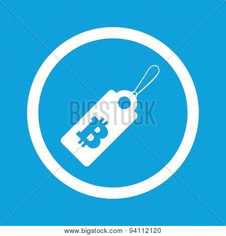 Bitcoin price sign icon