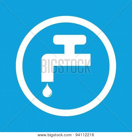 Water tap sign icon