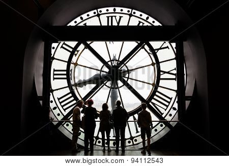 Paris, France - May 14, 2015: The Clock in the museum D'Orsay.
