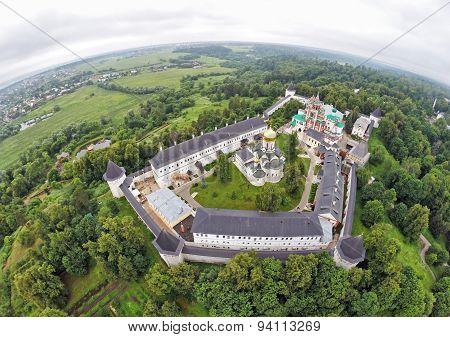 Aerial View On Savvino-storozhevsky Monastery In Zvenigorod