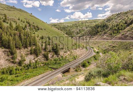 Double Set Of Railroad Tracks