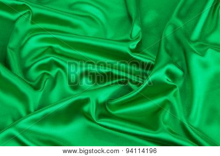 Green drapery.