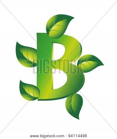 Green letter B logo with leaf