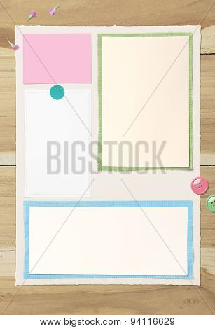 Empty Paper On Wooden Table