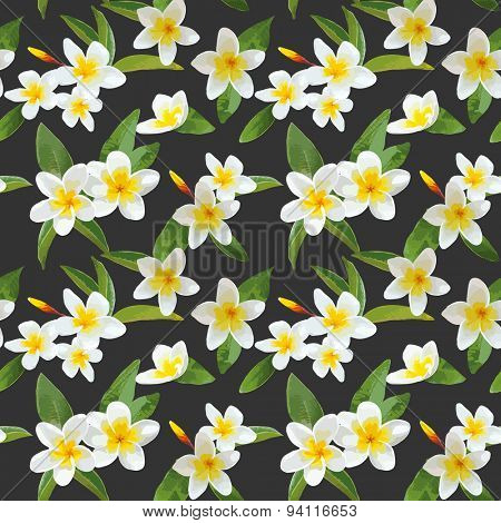 Tropical Flowers Background - Vintage Seamless Pattern - in vector