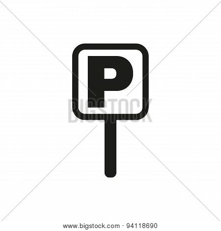 The Car Parking Icon. Parking Symbol. Flat