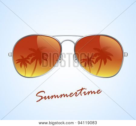 Aviator sunglasses vector illustration background