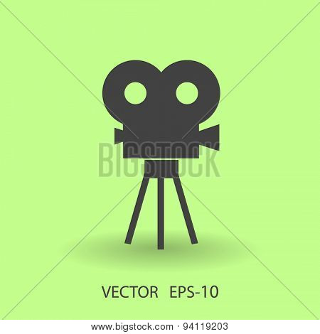 Flat icon of cinema