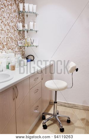 Interior of a cosmetology office