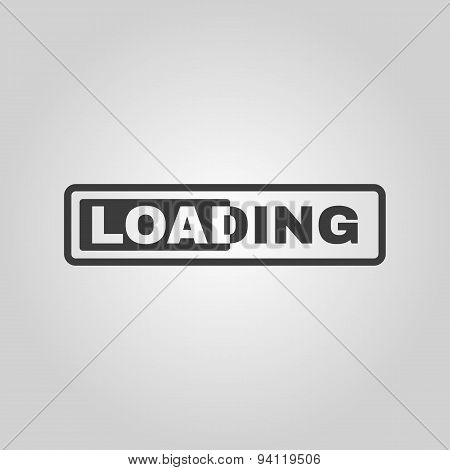 The Loading Icon. Preloader Symbol. Flat
