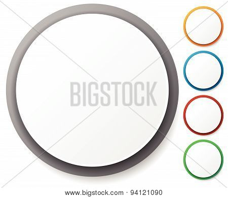 Circle Graphics. Circles Buttons, Badges With Blank Space.