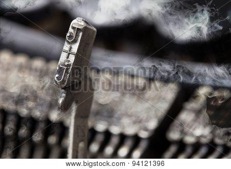 J Hammer - Old Manual Typewriter - Mystery Smoke