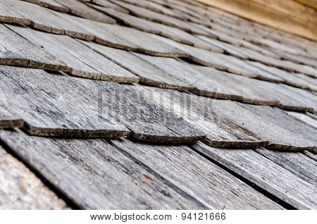 Roof Top Made From Wooden For Antique House