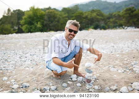 Smiling Man Building Shape Of The Stones