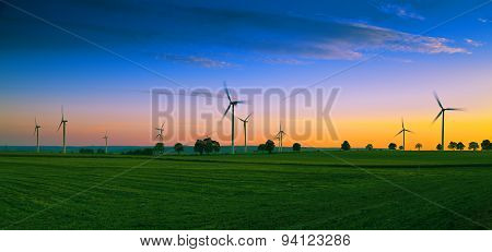 Wind Farm On Kashubian - Poland