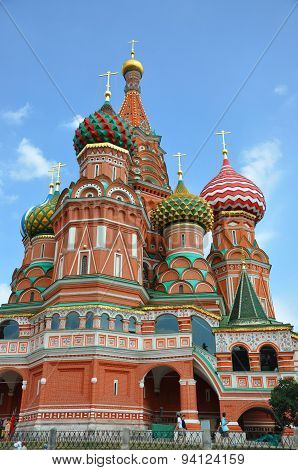 He Cathedral Of The Protectress (sobor Vasiliya Blazhennogo), Kremlin, Moscow, Russia