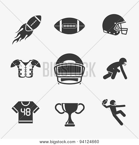 Rugby and american football icons