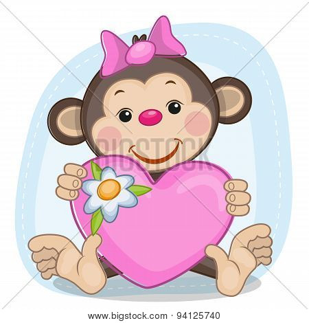 Monkey And Heart