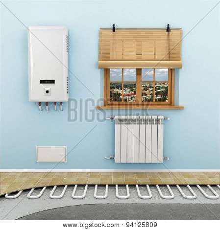 Floor Heating Systems In The Room