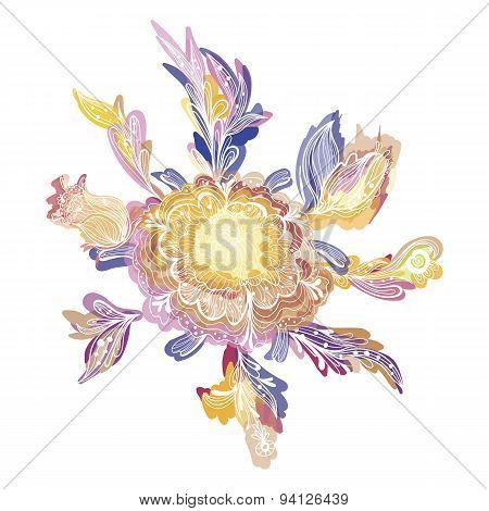 Creative Vector Floral Vignette