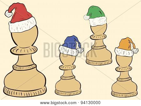 Pawn in a cap clipart