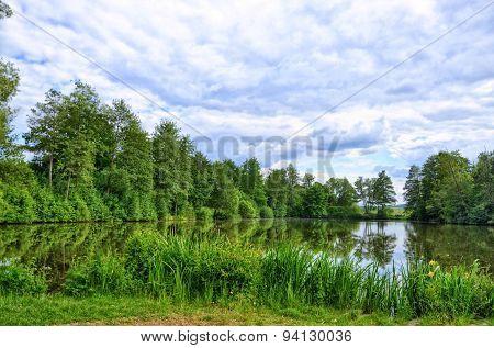 Fulda River In Fulda, Hessen, Germany